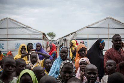 Un campo de desplazados internos en Pulka (Nigeria).