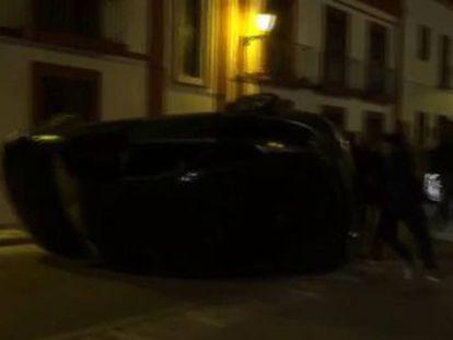 Tras una discusión de tráfico en la que tres varones de nacionalidad rumana agredieron a otro vecino de Pedrera se produjeron concentraciones de protesta que acabaron con desórdenes públicos