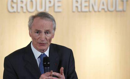 Jean-Dominique Senard, presidente de Renault, el pasado 24 de enero.