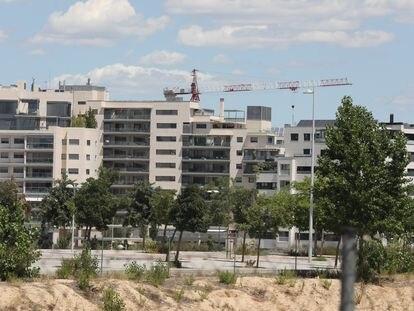 Edificio en construcción en Madrid, a principios de julio de 2020.