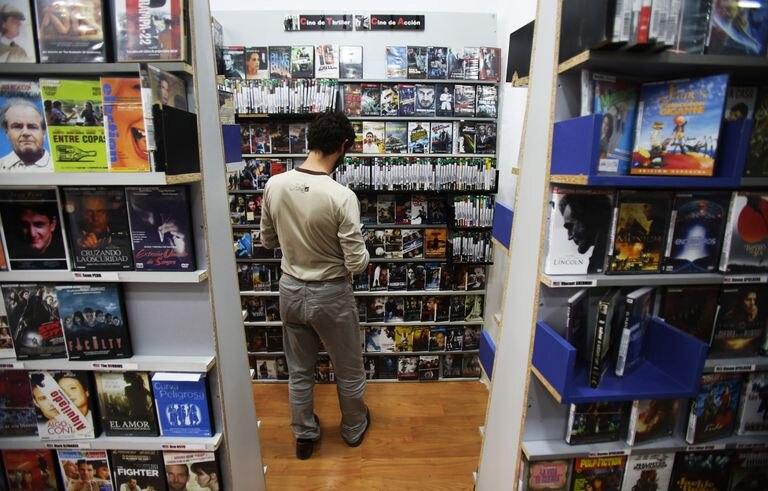 Videoclub Ficciones, en Madrid, en una imagen de archivo.