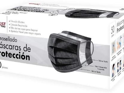 Estos cubrebocas, en paquete de 50 unidades, filtran las bacterías y las partículas del aire
