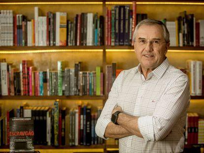 El periodista Laurentino Gomes, autor de Escravidão, en São Paulo.