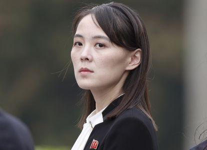 Kim Yo Jong, hermana del líder de Corea del Norte, Kim Jong Un, este viernes en una ceremonia en el mausoleo de  Ho Chi Minh en Hanoi, Vietnam.