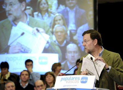 Rajoy, en un momento de su intervención hoy en Santurce