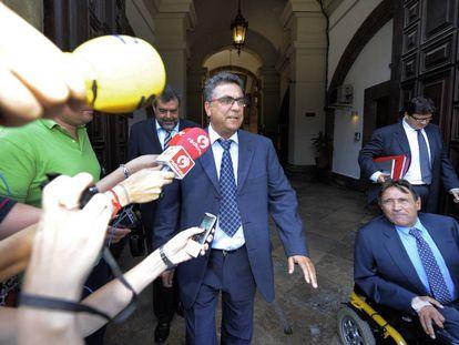 El empresario Enrique Ortiz tras declarar en el Tribunal Superior de Justicia.