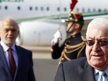 El presidente iraquí, Fuad Masum, a su llegada a París.