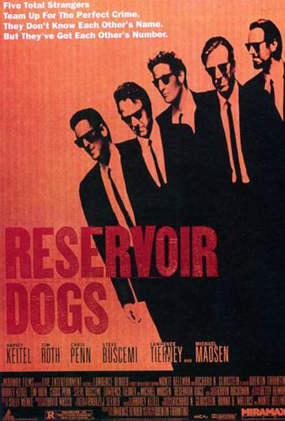 Poster with which 'Reservoir dogs' was promoted, which was released in October 1992, 25 years ago.