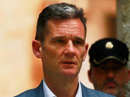 Iñaki Urdangarín abandona el Tribunal de Justicia de Palma.