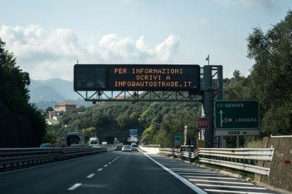 Autostrada A12 gestita da Autoestrade nei pressi di Genova.