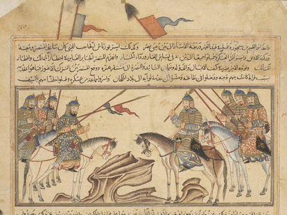 Imagen medieval ilustrativa del 'yihad'.