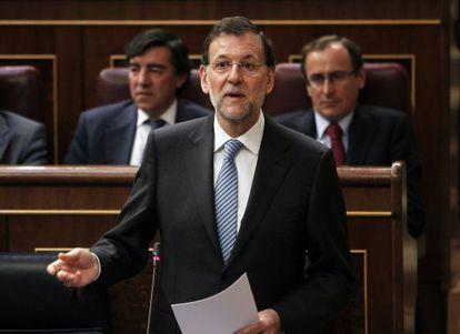 Rajoy, este miércoles durante la sesión de control.