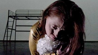 Actress Barbara Voghera, in the play 'Altro Stato', adaptation of 'Life is a dream' by Calderón de la Barca.