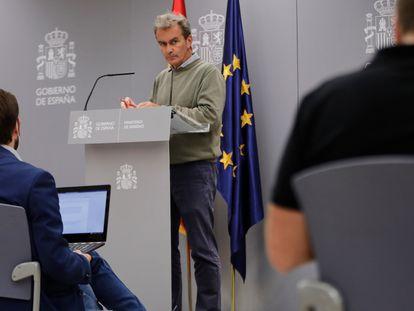 Fernando Simón, director del Centro de Coordinación de Alertas y Emergencias Sanitarias (CCAES), en su comparecencia del 1 de octubre.