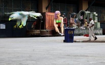 Una de las plazas de la ciudad de la Samba.