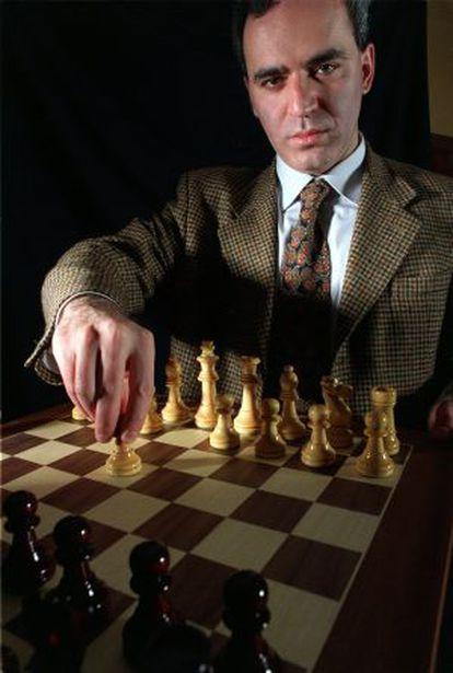 El ajedrecista Gari Kasparov.
