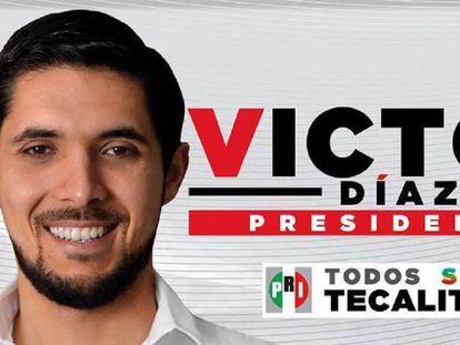 Propaganda de Victor Díaz para las elecciones de 2015.