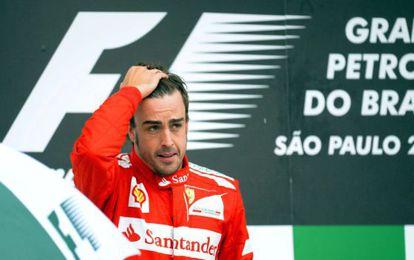 Fernando Alonso ayer, tras perder la competición