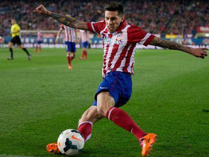 Sosa centra un balón ante el Espanyol.