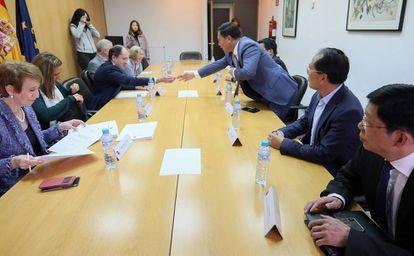Reunión de estrategia de salud con la Comunidad China en la Dirección General de Salud Pública