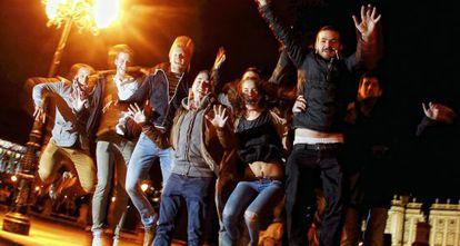 Un grupo de estudiantes internacionales en Madrid.