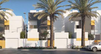 Captura del vídeo promocional de la urbanización Murcia.