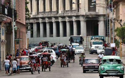 Una calle de La Habana (Cuba).