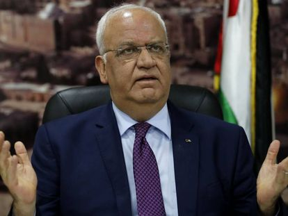 Saeb Erekat, secretario general de la OLP, en septiembre de 2018 en Ramala.