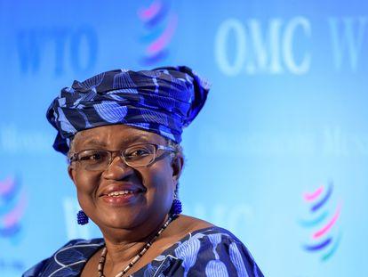 La aspirante nigeriana a dirigir la OMC Ngozi Okonjo-Iweala, en un encuentro de la organización el pasado mes de julio, en Ginebra.