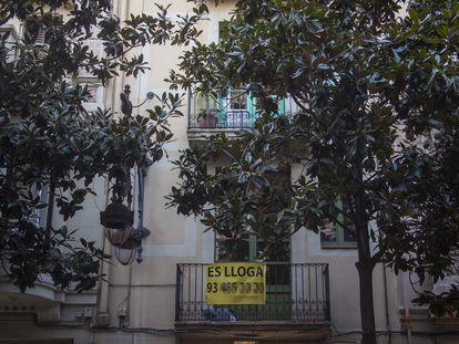 Piso en alquiler en el barrio de Gràcia de Barcelona.