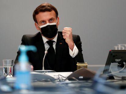 Emmanuel Macron, el pasado viernes, en el palacio del Elíseo (París).