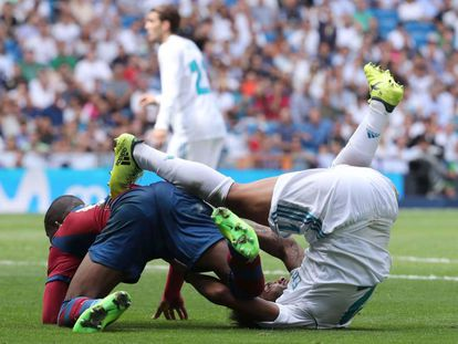 Marcelo, en el momento de su agresión a Lerma.