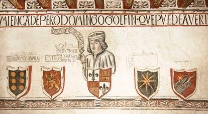 Portrait of Sancho de Paredes Golfín in the weapons room of the Palace of the Golfines de Abajo (Cáceres).