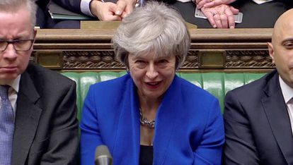 Theresa May, este miércoles en el Parlamento británico.