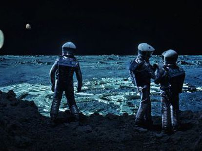 Fotograma de la pelicula 2001 una odisea en el espacio, de Stanley Kubrick.