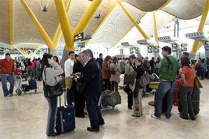 Imagen de la terminal 4 de Barajas durante las vacaciones de Semana Santa.