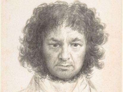 Detalle de 'Autorretrato', obra de Francisco de Goya (1795-7).