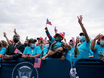 Seguidores de Donald Trump, durante un evento de la campaña electoral.