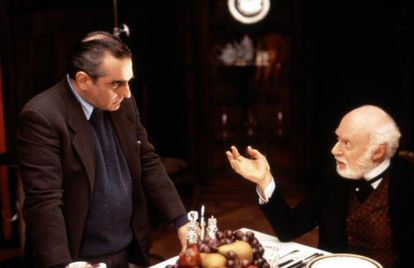 Martin Scorsese and Norman Lloyd, on the set of 'The Age of Innocence'.