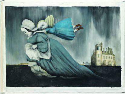 Ilustración de Ana Juan para 'Otra vuelta de tuerca' de Henry James.