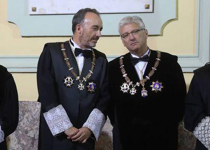 Manuel Marchena y Luis María Diéz-Picazo, el pasado 10 de septiembre.