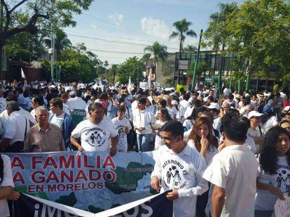 Una manifestación del Frente Nacional por la Familia, en Morelos.