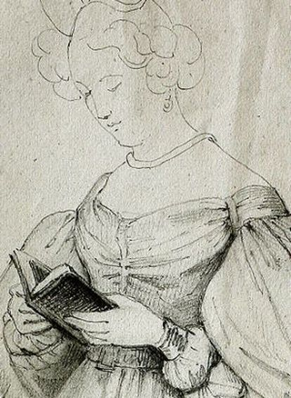 Uno de los dibujos de Rosario Weiss que expone la Fundacion Lázaro Galdiano.