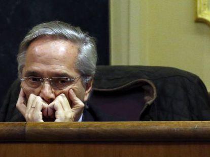 Pedro Gómez de la Serna, en su escaño.