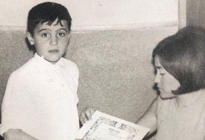 Federico Armenteros de niño.