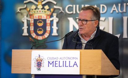 El presidente de Melilla, Eduardo de Castro, este miércoles.
