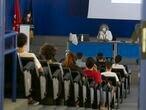 Dvd 1018 07.09.20 Ambiente UAM.  Facultad de Biologia. Prensentación a los nuevos alumnos. foto: Santi Burgos