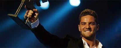 David Bisbal, tras recoger el premio al mejor artista de música en la gala de los Premios Ondas.