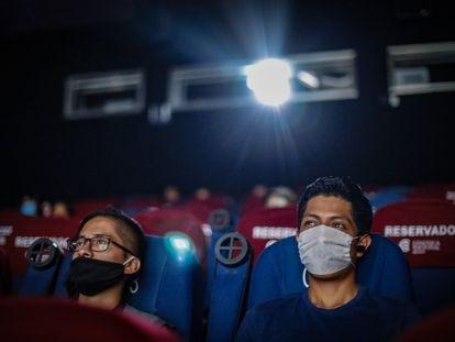 Espectadores en la Cineteca de Ciudad de México, en agosto.