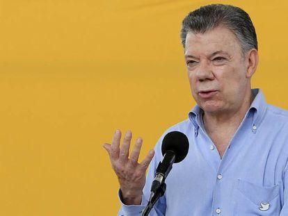 El expresidente de Colombia Juan Manuel Santos, en una imagen de archivo.